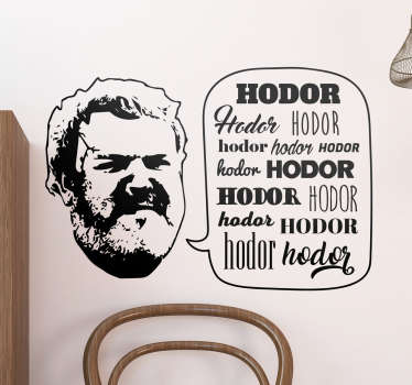 Game of Thrones, Hodor klistermærke