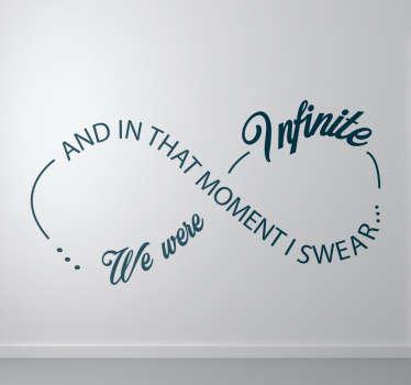 Vinilo símbolo infinito I swear