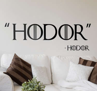 Stickers Game Of Thrones Hodor
