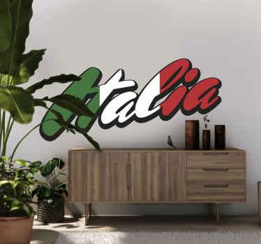 Vinilo texto bandera de Italia