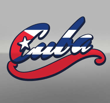 Sticker Cuba couleurs drapeau