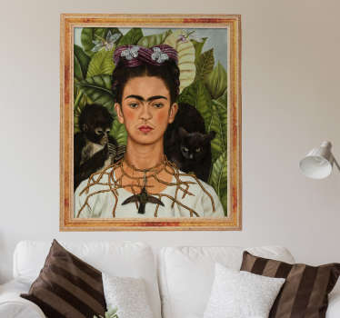 Klistermærke berømte portrætter Frida Kahlo
