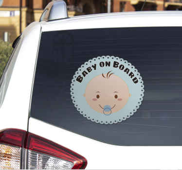 Naklejka na auto - dziecko w samochodzie