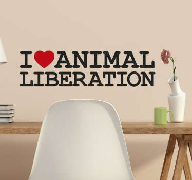 Muursticker animal liberation