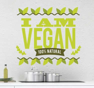 Wandtattoo I am Vegan