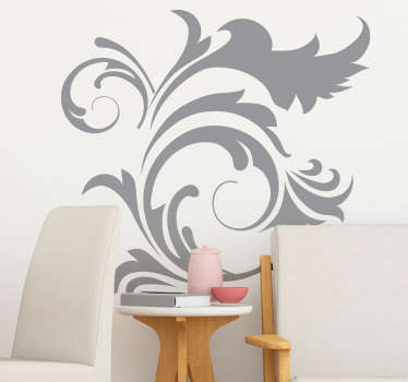 Ornamental Floral Plant Wall Sticker