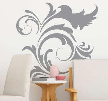Ornamental Floral Plant Wall Sticker