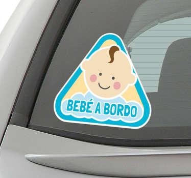 Vinil autocolante para carro menino bebe a bordo