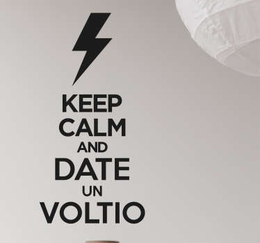 Sticker keep calm and voltio