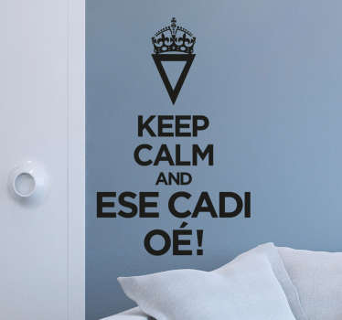 Vinilo keep calm esecadioé