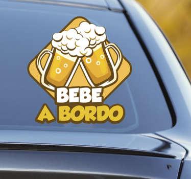 """Pegatinas divertidas para tu coche con un juego de palabras donde el típico """"bebé"""" cambia totalmente de signficado si le quitas el acento."""