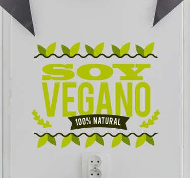 Vinilo decorativo soy vegano