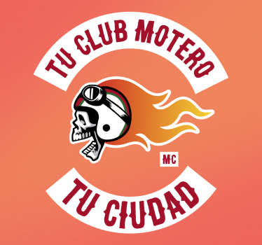 Sticker personnalisable club moto