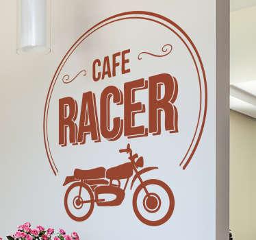 Motorcykel klistermærke cafe racer