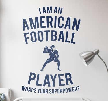 Adesivo murale football player