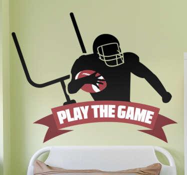 American Football Aufkleber American Football Spieler NFL