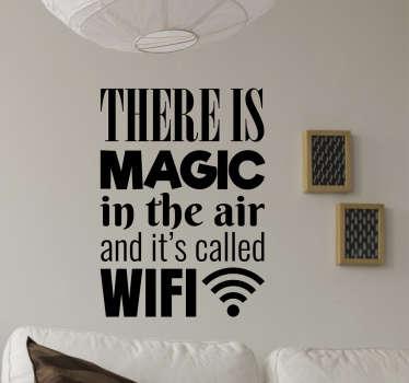 Dekorativt klistermærke hjem magisk wifi