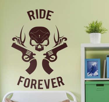 Klistermærke moto ride forever