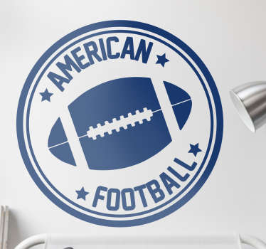 Adesivo casa palla e scritta american football