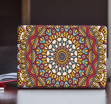 东方模式笔记本电脑贴花