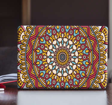 Laptopaufkleber Boho Mandala