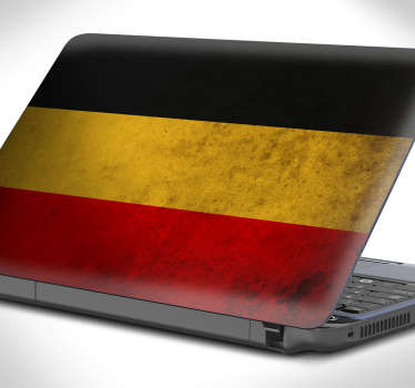 Laptop klistermærke tysk flag