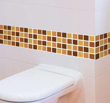 茶色の色調のバスルームモザイクビニール