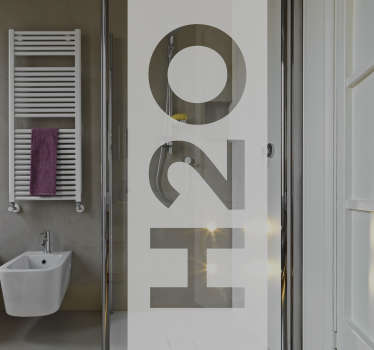 "If you're looking for a fun and interesting way to decorate your bathroom, look no further than this shower sticker! Featuring the text ""H20"", this translucent vinyl is the perfect way to customise your shower while providing some privacy while you wash!"