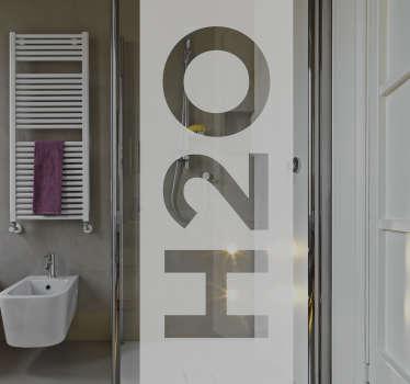 H2O Decorative Shower Sticker