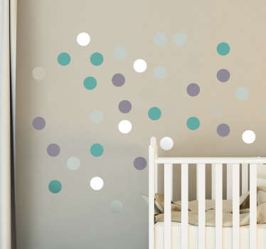 Five Colour Wall Spot Stickers