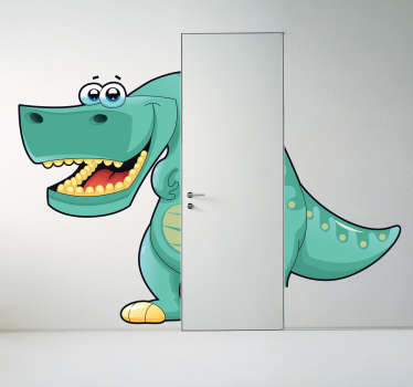 klistermærke til dør dinosaur