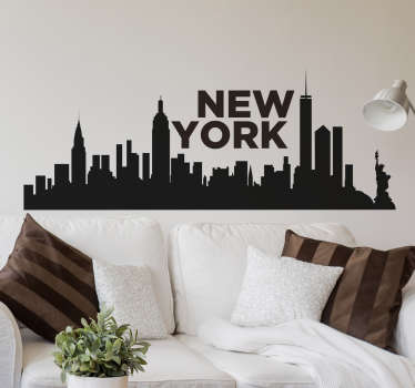 Vinilo pared skyline Nueva York