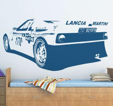 Sticker d'une voiture de course de l'époque Lancia Martini.