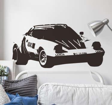 Adesivo decorativo macchina rally