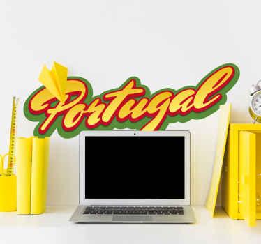Vinilo de texto bandera de Portugal