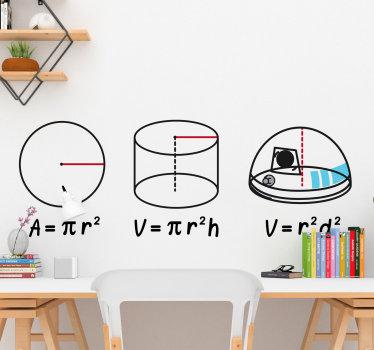 Vinil autocolante de parede Matemática. Decore a seu quarto com este vinil autocolante decorativo de grande qualidade e por um preço apelativo.