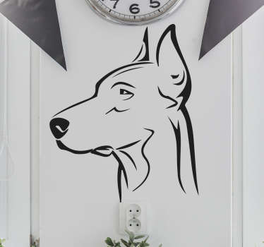 Klistermærker af hunde, dobberman