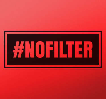 Adhesivo hashtag no filter