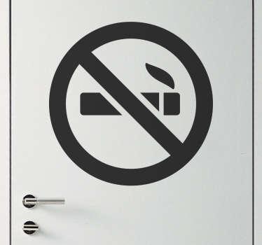 단색 금연 징후 스티커