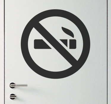 Monochrome No Smoking Sign Sticker