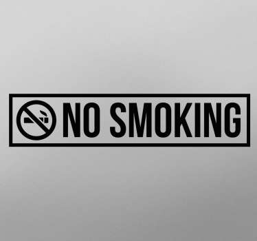 Sticker texte et picto no smoking