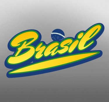 klistermærke brasiliansk flag