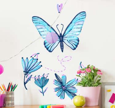Naklejka - Niebieski Motyl