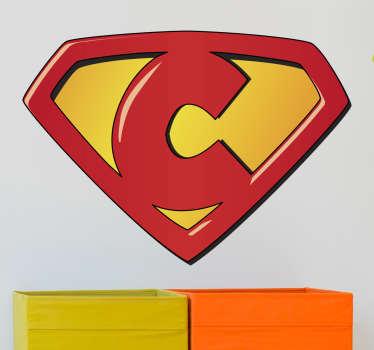 Naklejka dla dzieci Super C