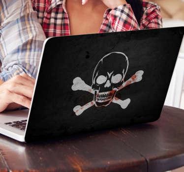 Sticker crâne pirate PC