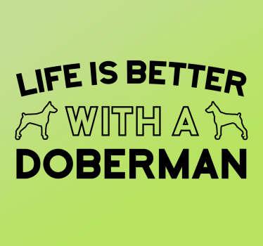Vinil decorativo Doberman