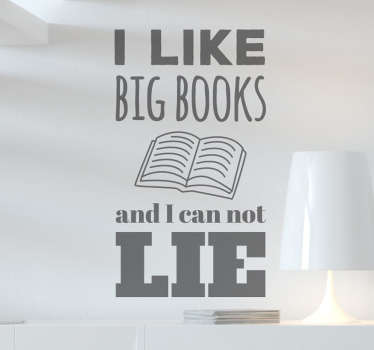 Muurstickers I like big books