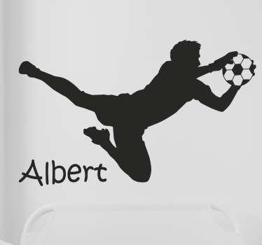 Naklejka na ścianę piłkarz z dowolnym tekstem
