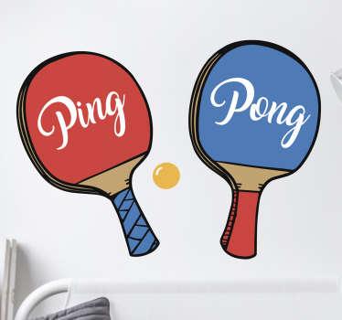 Adesivo sport ping pong
