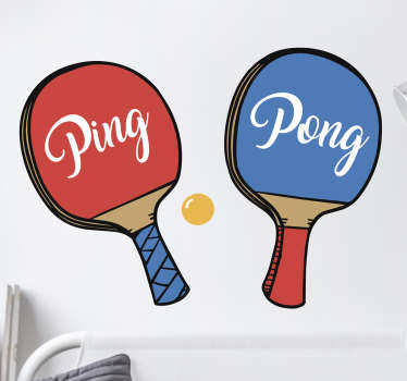 Muursticker PingPong